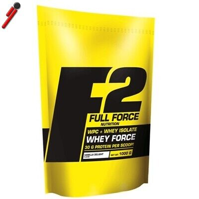 F2 Full Force, Whey Force, 1000 g Proteine siero di latte concentrate e isolate