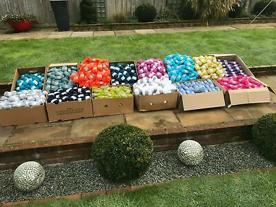 Job lot special offer 100 mixed colour balls of 25g knitting /crochet wool/yarn