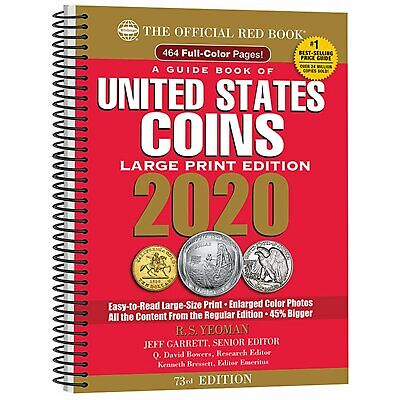 Whitman's Official Red Book of United States Coins 2020 (Spiral) LARGE PRINT