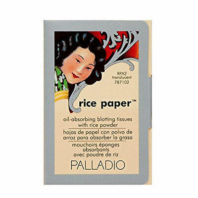 Palladio Rice Paper Tissues, Translucent 40 Sheets with Rice Powder