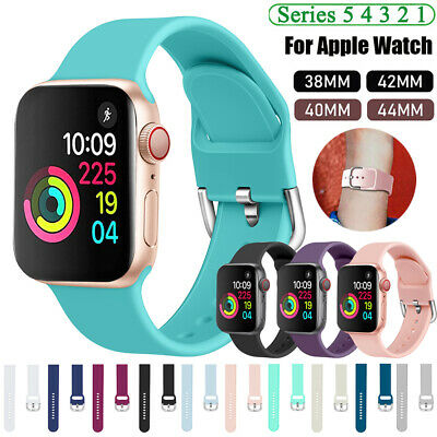 40 44mm/38 42mm Silicone Sports Band Strap for Apple Watch iWatch Series 5 4 3 2