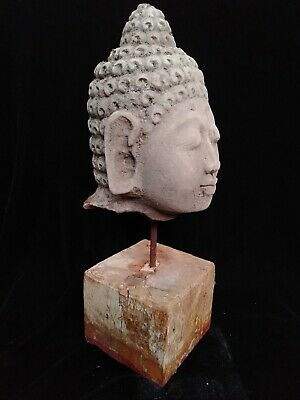 Mystical Balinese architectural Buddha Head Sand Stone Carving