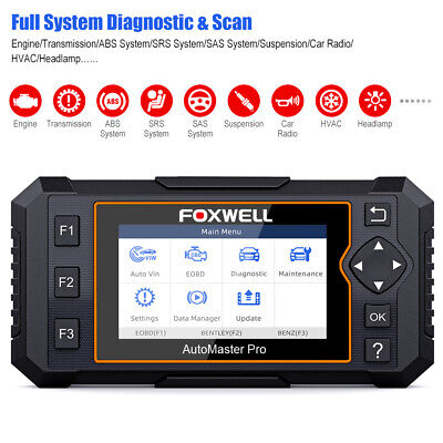 Foxwell Full System OBDII Scanner Auto Diagnostic Tool Oil EPB Reset Code Reader