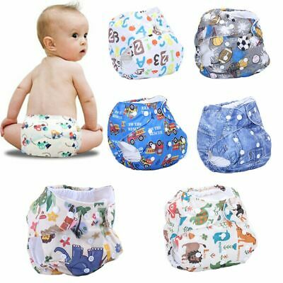 Cute Infant Reusable Kids Baby Nappy Adjustable Cloth Diapers Cover Washable