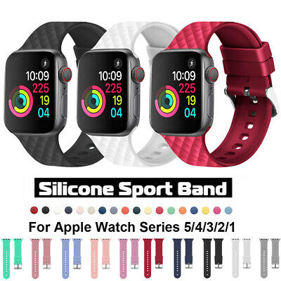 Soft Silicone Sport Band Strap for Apple Watch 5 4 3 2 1 iWatch 40 44mm/38 42mm