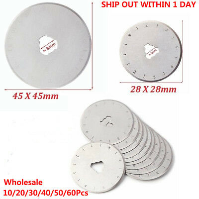 Ship. Patchwork-Pro Brand 10x 45mm Rotary Cutter Replacement Blades Quilt Int