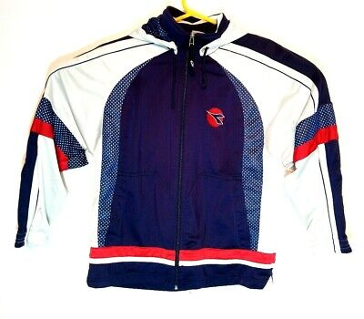 Diadora Mens Size 34 Vintage Rare Tracksuit Top Jacket With Popper Hood