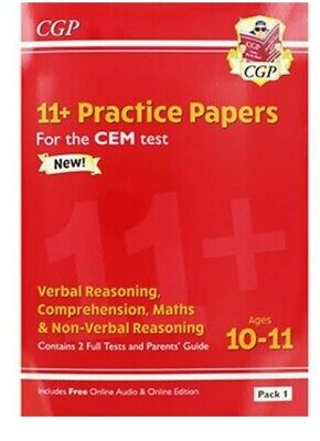 CGP 11 Plus Non-Verbal Reasoning - Ages 10-11 Practice Book, Brand New