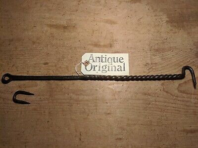 Antique Wrought Iron Stay~Door/Window/Shutter~Decorative Twist~16 1/2 inch~