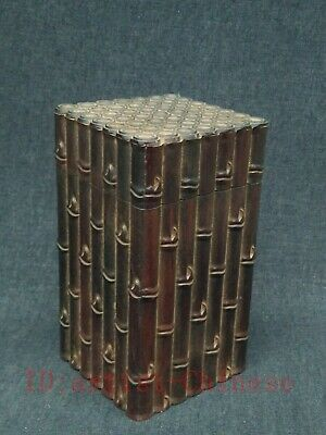 Collection China Old Redwood Carving Bamboo Tea Caddy or Jewelry Box Decoration