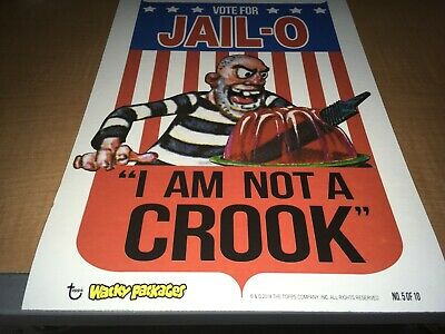 2014 Topps Wacky Packages Cardboard Wall Art Poster Vote For Jail-O #5