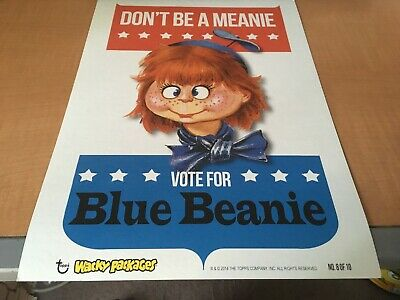 2014 Topps Wacky Packages Cardboard Wall Art Poster Vote For Blue Meanie #8