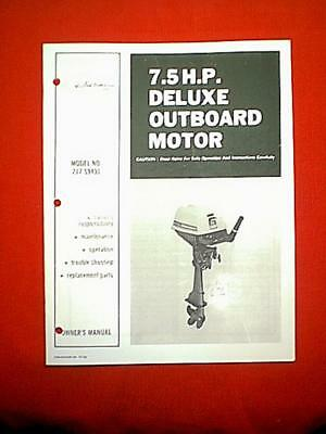 SEARS Ted Williams 7 hp Owners Manual cd 217.59440