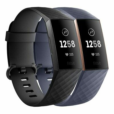Fitbit Charge 3 Advanced Health and Fitness Tracker - Black / Blue [Au Stock]