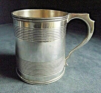 SUPERB ~ SOLID SILVER ~ William Bateman ~ GEORGIAN ~ TANKARD Cup ~ London 1824