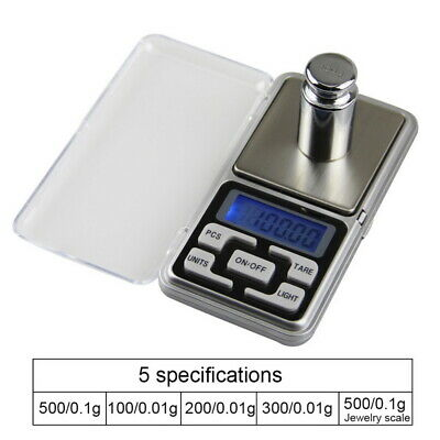 Pocket Scale Small Mini Digital Electronic AU 500g 0.01g- Weight Weighing LCD