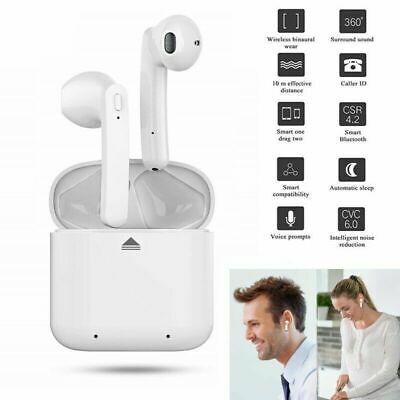 White Twins Wireless Bluetooth TWS Stereo Ear Pods Earbuds Earphones Headphones