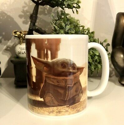 Baby Yoda Cup Personalised Coffe Tea Mug with Star wars The Mandalorian
