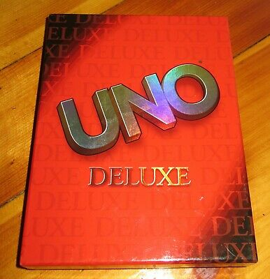 2001 Uno Deluxe Card Game Complete Mattel