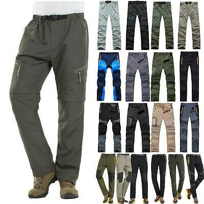 Mens Waterproof Cargo Walking Trousers Climbing Hiking Military Pants Outdoor