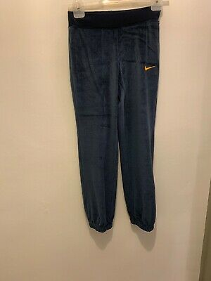 NIKE Velour Style Tracksuit Bottoms Age 10-12 Years/UK 6 XS