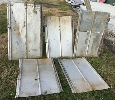 5 Sheets Weathered Barn Tin, Reclaimed Roof, Farmhouse Architectural Salvage h,