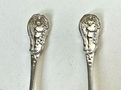 Antique Solid Sterling Silver 1901 PAIR OF TEASPOONS - 29g