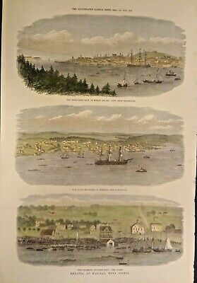 Rare Beautiful Pictures Of The Halifax Boat Race 1871 Genuine Frameable