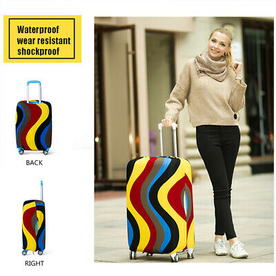 """Multicolored Waterproof Stretch Travel Luggage Protector Suitcase Cover 18""""-28"""""""