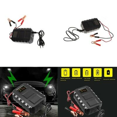 Intelligent 20A Automobile Battery Lead Acid Battery Charger Car Motorcycle EU