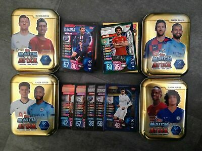 Match Attax 2019/20 19/20 Bundle Of 50-100 Cards Inc Le + 4 Empty Mini Tins