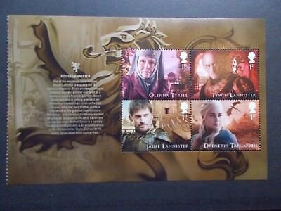 GB 2018 Game of Thrones~Prestige Stamp Booklet Pane~2~ex DY24~MNH~UK Seller