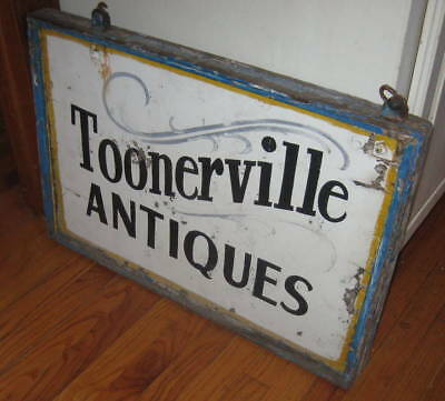 Best Antique Double Sided Wood Trade Sign Best Lettering, Old Paint  Aafa Nr