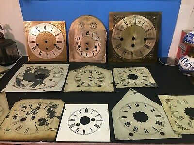 Antique Steeple Mantel Clock Dial, Grandfather, Mantle, Wall 11 Total