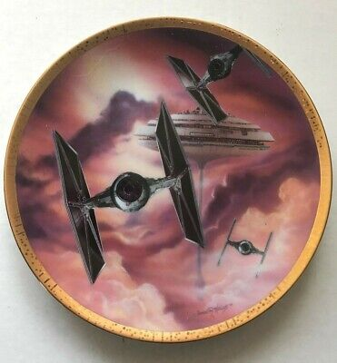 """STAR WARS Plate Hamilton Collection """"""""Tie Fighters"""" 1995 Limited Edition"""