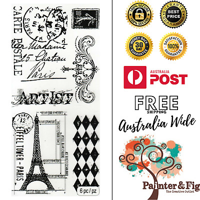 Tim Holtz French Stamps, Postage Stamp, Eiffel Tower, Artist, France, Scrollwork
