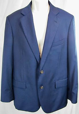 Brooks Brothers 346 Madison 41R Navy Blue Pinstriped Wool Suit Jacket Sport Coat