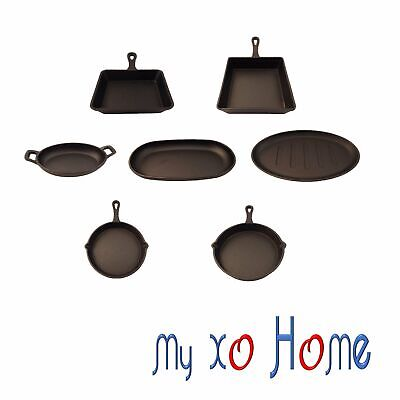 MyXOHome Cast Iron Frying Pan / Plate / Skillet (Set of 7) (1 Set)