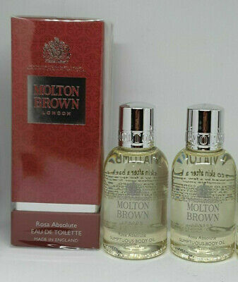 Molton Brown Rosa Absolute EDT 50ML Sealed & Sumptuous Body Oil 2x 45ml SEALED