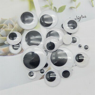 Assorted Cute Wiggle Googly Eyes 45 pairs Bear Toy Doll Making Craft Findings