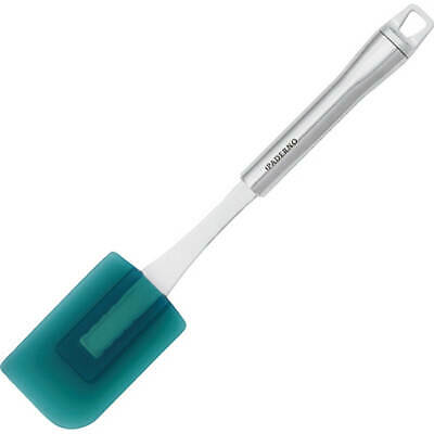 "Paderno World Cuisine Silicone Spatula With Stainless Steel Handle, 11.88"" Blue"