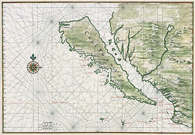 Johannes Vingboons: Map of California Shown as an Island. Print/Poster