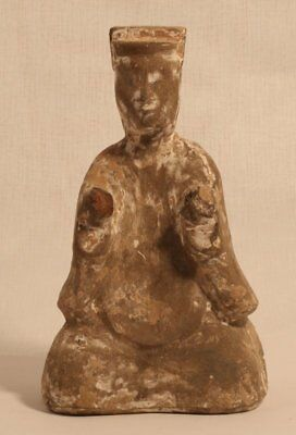 Chinese Han Dynasty 206BC-200AD Terracotta seated Musician