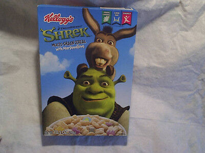 2007 SHREK MOVIE CEREAL BOX,*Empty,Kelloggs,dream works,donkey