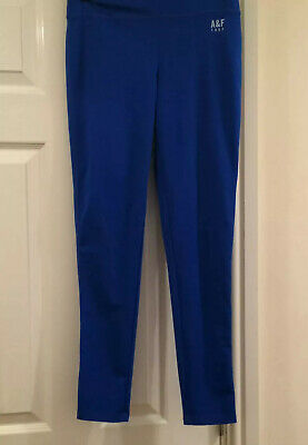 ABERCROMBIE & FITCH Yoga / Gym Leggings Blue Small 6 8 Bright Workout Stretch