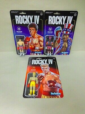 "2019 Super7 ReAction Rocky IV Rocky Balboa AMERICAN FLAG TRUNKS 4/"" Figure MOC"