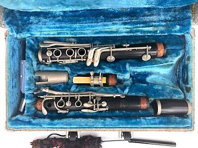 Conn USA Model 80N Clarinet Project Missing Bell With Case & Accessories, Wood?