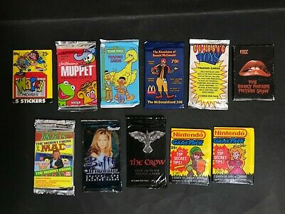 Trading Card Lot Of Vintage Full Unopened Packs X 11 Inc: Buffy, The Crow, Mad
