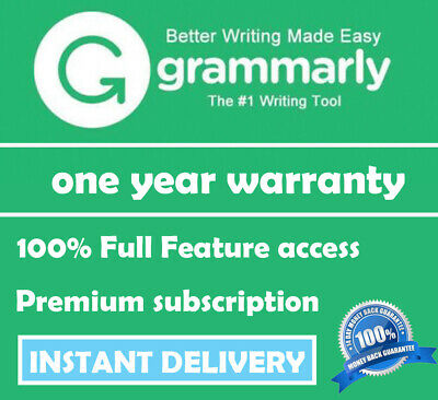 Grammarly Premium | Lifetime account with one year Warranty | INSTANT DELIVERY |