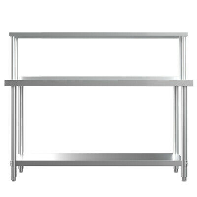 Kitchen Prep Table with Single Tier Over Shelf Stainless Steel Workbench Shelves